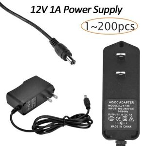 200pc 12v 1a 12w Ac To Dc Adapter Power Supply For Flexible Led Light Strip 3528