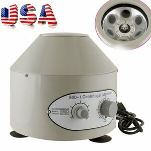 800 1 Electric Centrifuge Machine Lab Medical Practice 110v 4000 Rpm 20ml X 6 Sy