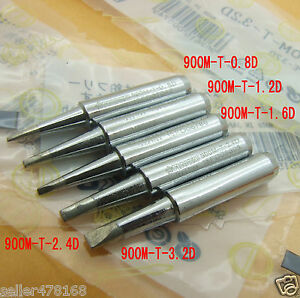 100pc 900m t Soldering Tips 0 8 1 2 1 6 2 4d 3 2d For Hakko936 Soldering Station
