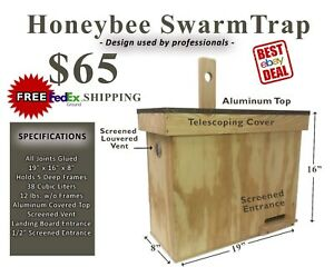 Honeybee Swarm Bait Trap brand New Catch Your Own Free Bees