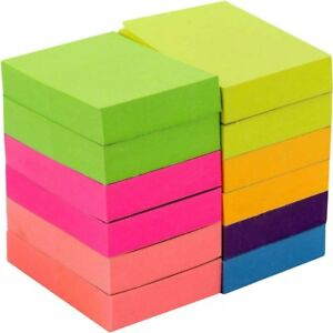 Post it Neon Color Sticky Notes 1200 Pop Up Memo Reminder 12 Pads 100 Sheets