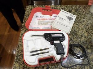 Blue Point Snap On R450 Soldering Gun 25 450 Watts In Case Perfect Look