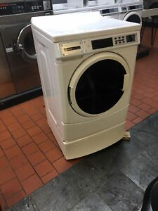 White Maytag Commercial Card Front Load 22lb Washer Laundromat Digital Coin 120v