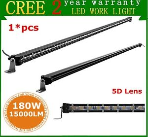 48 inch 180w 5d Super Slim Single Row Suv Led Light Bar Off road Boat 4wd Ford