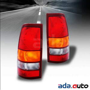 1999 2003 Chevy Silverado Gmc Sierra 1500 2500 Tail Lights Replacement Lamps Set