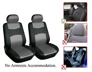 Vinyl Leather Two Front Car Seat Covers For Jeep L1510 Black gray