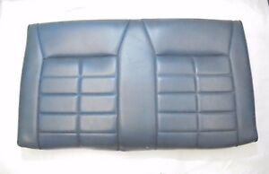 1987 1989 Mustang Convertible Rear Seat Back Upper Blue