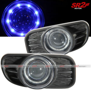 Blue Halo Led Projector Fog Lights Lamps Fits 99 03 Jeep Grand Cherokee
