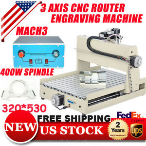 3axis Cnc Router Engraver Machine 3040 Engraving Drilling 400w Spindle 3d Cutter