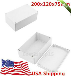 20x Waterproof Electronic Junction Project Box Enclosure Case 200x120x75mm Sk