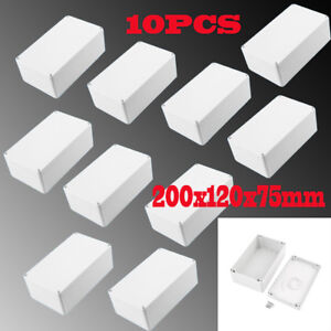 10x Waterproof Electronic Junction Project Box Enclosure Case 200x120x75mm Sk
