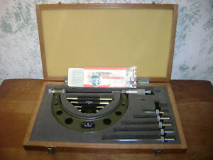 Mitutoyo 0 6 Inch Micrometer Set No 104 137 W Standards Lot3