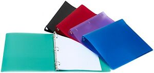 Economy Poly Binder 1 inch 12 Pack Assorted Colors 52294b12c