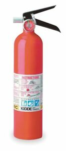 Kidde Dry Chemical Fire Extinguisher With 2 5 Lb Capacity And 8 To 12 Sec