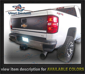 Chevrolet Tailgate Decal Blackout Kit 2014 2015 2016 2017 2018