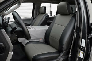 Ford F 150 2015 2018 Black charcoal Iggee S leather Custom Fit Front Seat Cover
