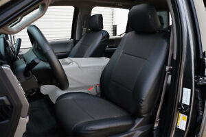 Ford F 150 2015 2020 Black S Leather Custom Made Fit Front Seat Cover