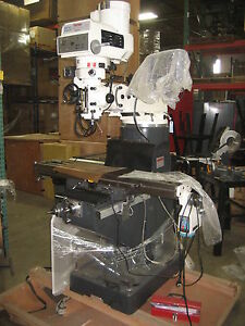 New Tm200v Variable Speed Turret Mill W dro Power Feed Toptech