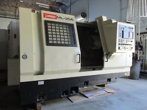 Yang Ml 25a Cnc Lathe Turning Center With Fanuc Control Year 1994