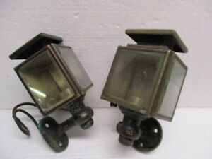 2 Antique 1920s Automobile Car Carriage Cowl Lights Electric Rat Rod Hot Rod