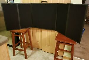 Folding Table Top Trade Show Display 6 x2 Black Velcro Ready Carrying Case