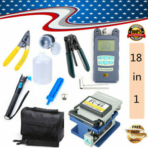 Fiber Optic Ftth Tool Kit W Fc 6s Fiber Cleaver And Optical Power Meter Locator