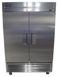 True T 49f hc T 49f 54 Two Section Reach in Freezer Solid Doors