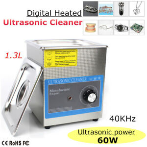 1 3l Ultrasonic Cleaner Jewellery Watchestimer Bath Tank Wave Cleaning