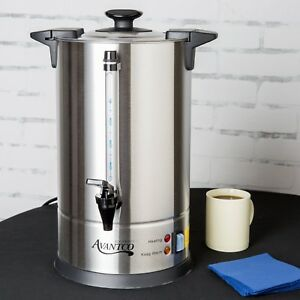 Stainless Steel Coffee Urn 55 Cup 950watts Electric Commercial Machine Avantco