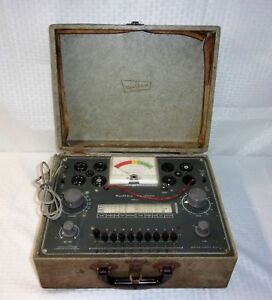 Vintage1950 s Heathkit Tc 2 Vacuum Tube Tester With Manual Documents