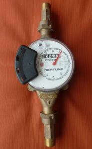 Water Meter Recordall Model T 10 1 inch Cubic Feet Meter