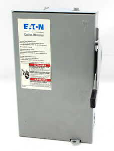 eaton 240 Volt 30 Amp Non Fused Disconnect Safety Switch Dg221urb