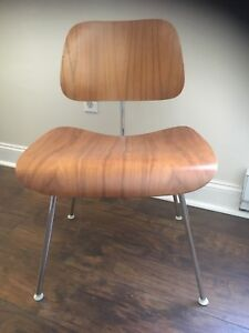 Eames Herman Miller Dcm Chair Molded Plywood Dining Chair Mid Century Walnut