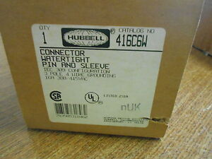 New Hubbell Connector Watertight Pin And Sleeve 16a 380 415v 416c6w