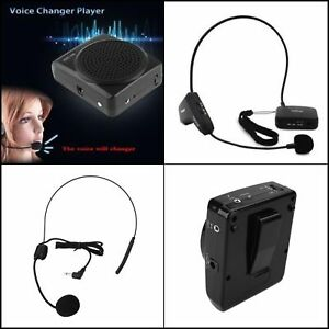 Microphone Voice Amplifier Booster Megaphone Speaker Portable Mini Mic Headset