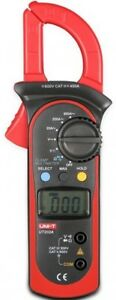Uni t Ut202a Handheld Digital Lcd Dc Ac Voltage Current Ohm Tester Clamp Meter