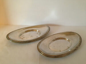Reed Barton Silver Soldered Bread Tray Restaurant 1352 1p Set Of 2 7 3 4