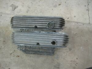 Vintage Ford Mustang Small Block Cal Custom Aluminum Valve Covers Hot Rod