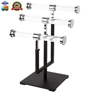 Amko Csr t3 3 tier Jewelry Stand Acrylic Displays With Metal Base