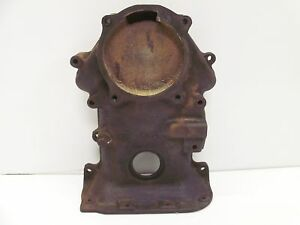 1954 54 Mercury 256 Y Block Engine Motor Timing Chain Gear Front Cover Plate