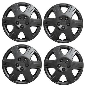 New 2005 2008 Toyota Corolla 15 Gloss Black Hubcaps Wheelcover Set