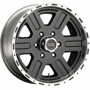 17x8 American Racing Victor Wheel 6 5 5 W teflon set Of 4