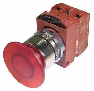 Ge Illuminated Push Button Operator Red Maintained Push Pull Action