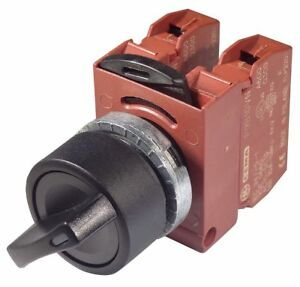 Ge Non illuminated Selector Switch Size 22mm Position 2 Action Maintained