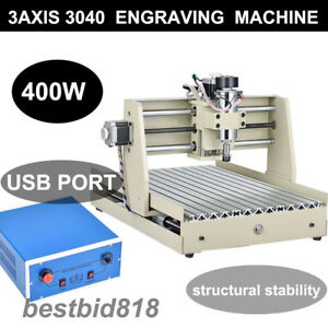 Usb 3 Axis 3040t Cnc Router Engraver Engraving Cutting Milling Machine Mach3