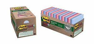 Post it Recycled Super Sticky Notes 3 In X 3 In Bali Collection 24 Pads pack