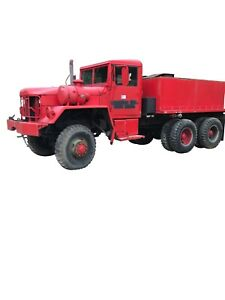 1972 Am General M54a 1c 6x6 5 Ton With Water Tank Runs Great