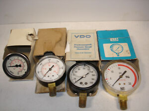 lot 4 Misc Pressure Gauge Gauges 0 100psi Vdo 0 200psi Vdo 0 300 new