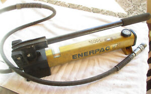 Enerpac P392 P 392 Hydraulic Manual Hand Pump With Hose 10 000 Psi