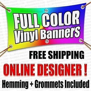 Custom Banner Personalized Billboard Sign Design Tool 96 X 48 Inches Size Opt
